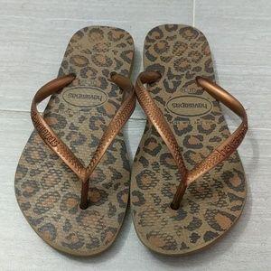 Havaianas Leopard Print Flip Flop Sandals